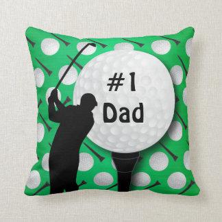 El día de padre del papá el   del golf del número cojín
