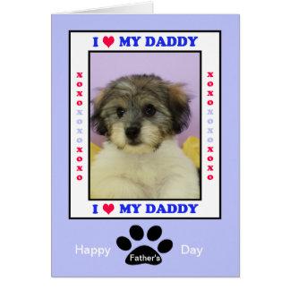 El día de padre del perro -- Su foto Tarjeta De Felicitación