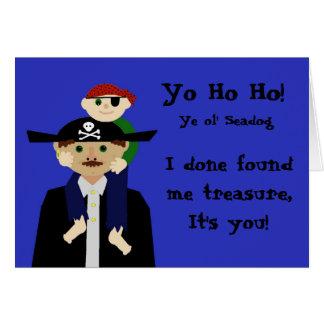 El día de padre del pirata tarjeta de felicitación