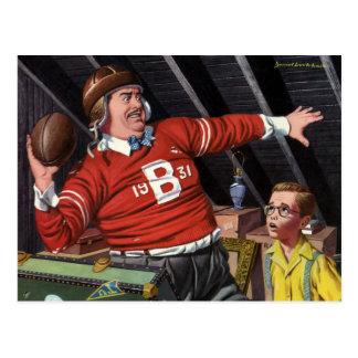 El día de padre del vintage, papá del fútbol de postal