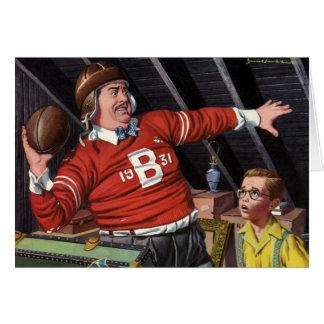 El día de padre del vintage, papá del fútbol de tarjeta de felicitación