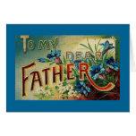 El día de padre del vintage tarjeta de felicitación