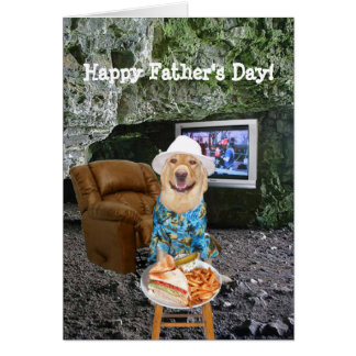 El día de padre divertido de la cueva del hombre d tarjetas