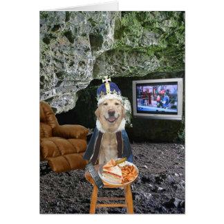 El día de padre divertido de la cueva del hombre tarjeta de felicitación