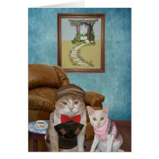 El día de padre divertido de los gatos/de los tarjeta de felicitación