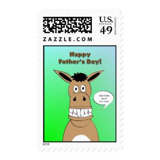 El día de padre divertido del caballo sellos