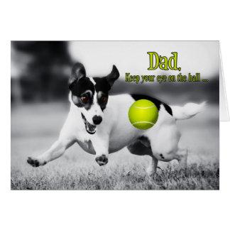 El día de padre divertido del perro de la búsqueda tarjeta de felicitación