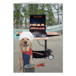 El día de padre divertido del perro tarjeta de felicitación