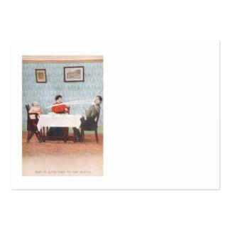 El día de padre divertido del vintage de la tarjetas de visita grandes