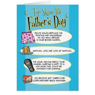 El día de padre divertido: Muestras superiores Tarjeta De Felicitación