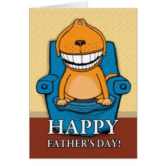 El día de padre divertido: Silla preferida Tarjeta De Felicitación