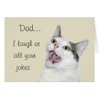 El día de padre divertido tarjeta de felicitación