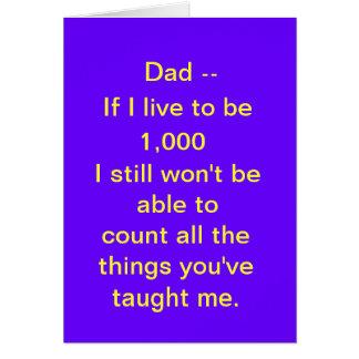 El día de padre, divertido tarjeta de felicitación
