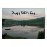 El día de padre en blanco, lago tarjeton