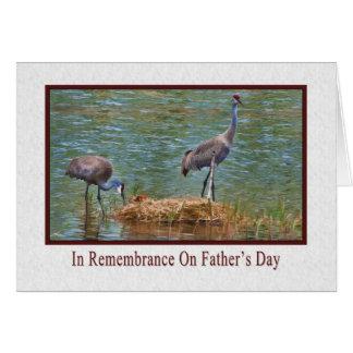 El día de padre, en la conmemoración, grúas de San Felicitación