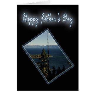 El día de padre esmeralda de la bahía tarjeta de felicitación