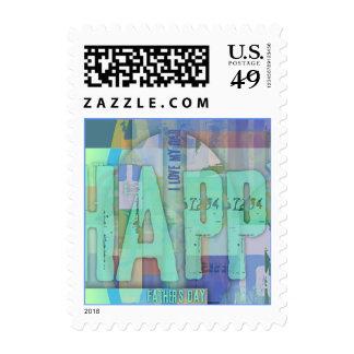 El día de padre feliz - 03 sellos postales