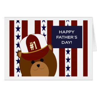 ¡El día de padre feliz a mi oso de la papá del Tarjeta De Felicitación