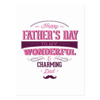 El día de padre feliz a mi papá maravilloso y enca postal