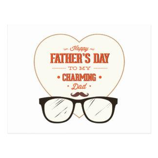 El día de padre feliz a mi papá maravilloso y enca tarjetas postales