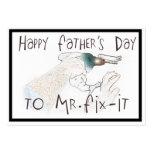 El día de padre feliz a Sr. Arreglo-Él (con el tal Plantillas De Tarjeta De Negocio