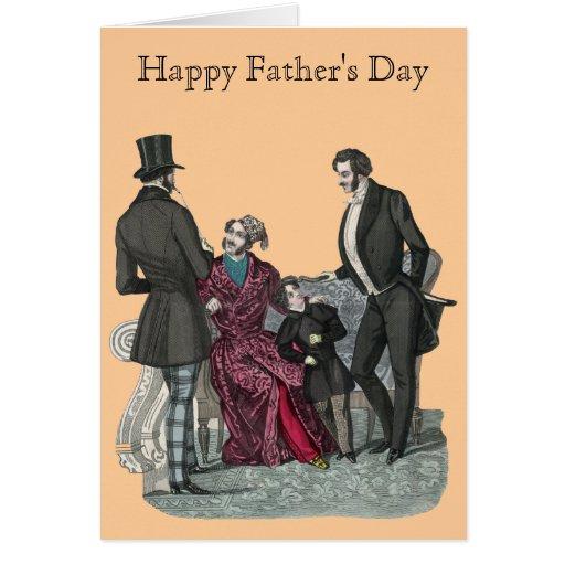El día de padre feliz a un papá elegante tarjeta