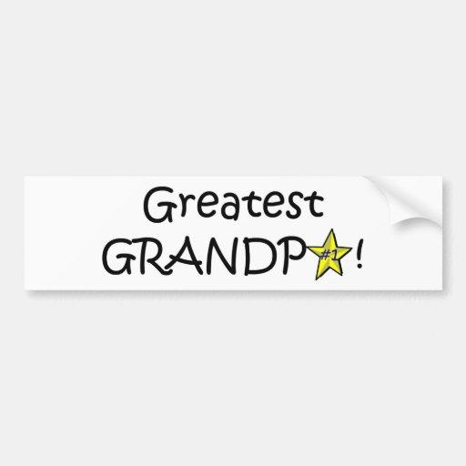 ¡El día de padre feliz, abuelo! Pegatina De Parachoque