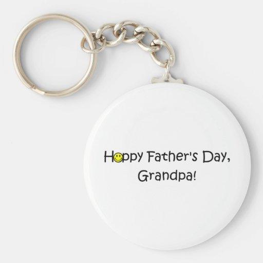 ¡El día de padre feliz, abuelo! Llavero Redondo Tipo Pin
