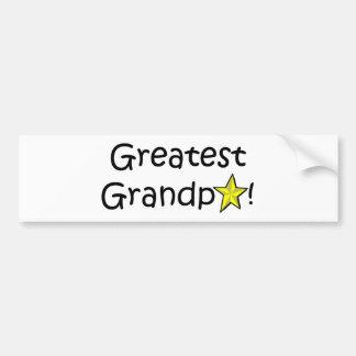 ¡El día de padre feliz, abuelo! Pegatina Para Auto