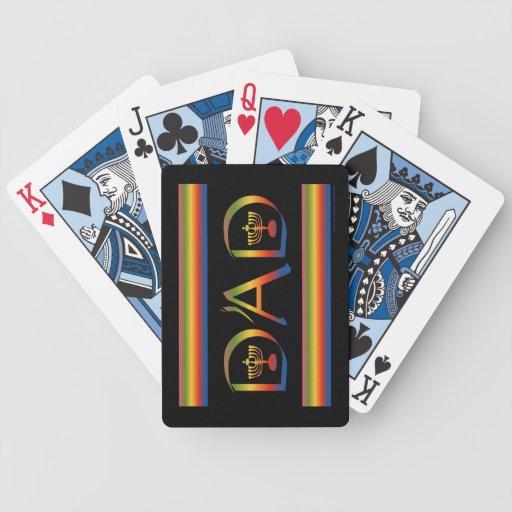 El día de padre feliz al hebreo judío del papá cartas de juego