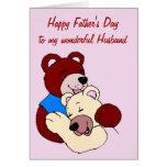 El día de padre feliz al marido de la esposa tarjetas