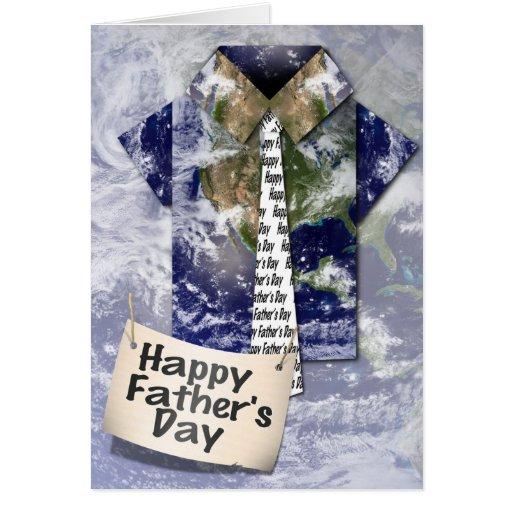 ¡El día de padre feliz al mejor papá del mundo! Tarjeta De Felicitación