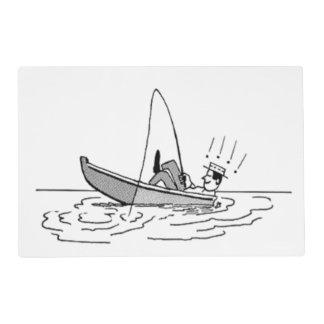 El día de padre feliz - barco de pesca tapete individual