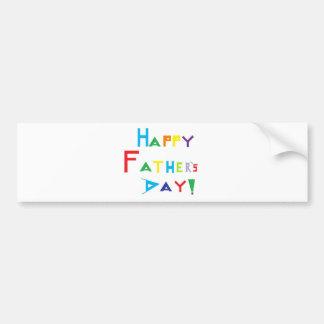 El día de padre feliz pegatina de parachoque