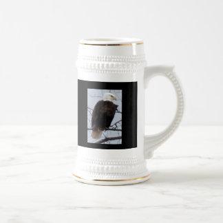 El día de padre feliz calvo americano de Eagle Ste Tazas De Café