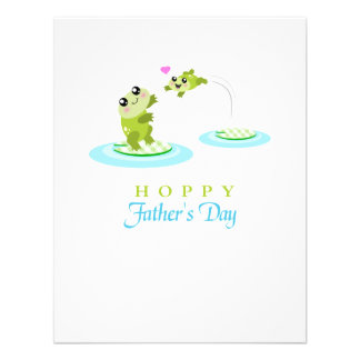 El día de padre feliz de lúpulo de la rana linda comunicado personalizado