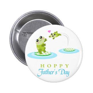 El día de padre feliz de lúpulo de la rana linda pins