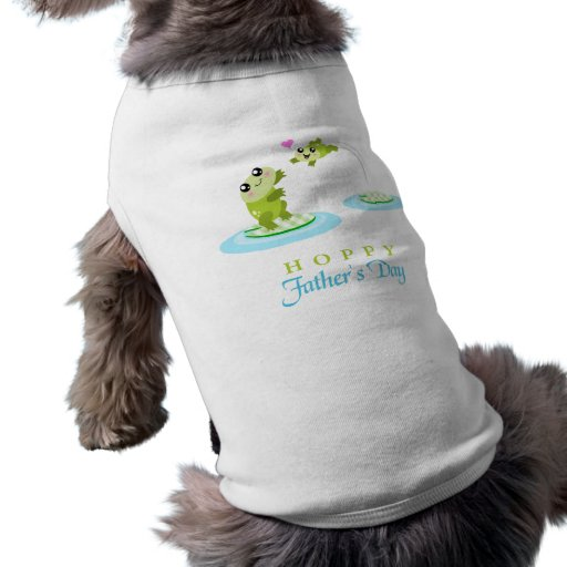 El día de padre feliz de lúpulo de la rana linda playera sin mangas para perro