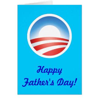 ¡El día de padre feliz de Obama! Tarjeta De Felicitación