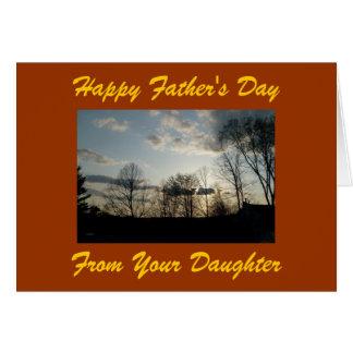 El día de padre feliz, de su hija tarjeta de felicitación