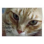 El día de padre feliz del gato felicitacion