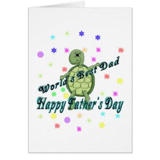 El día de padre feliz del mejor papá del mundo tarjeta de felicitación