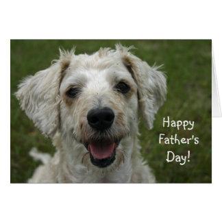 El día de padre feliz del perro tarjeton