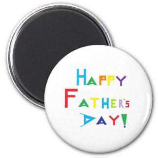 El día de padre feliz imán redondo 5 cm