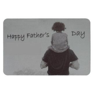 ¡El día de padre feliz! - Imán Flexible