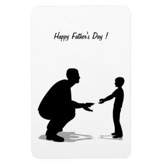 ¡El día de padre feliz! - Imán Rectangular