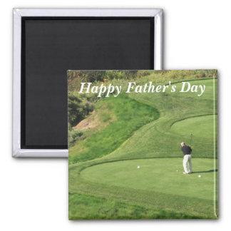 El día de padre feliz imán cuadrado