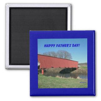 ¡El día de padre feliz! Imán Cuadrado