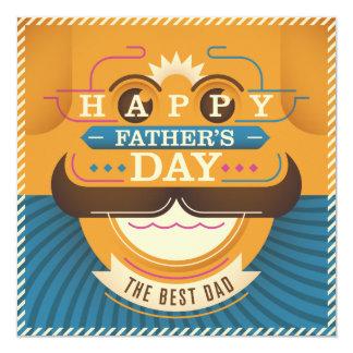 """El día de padre feliz invitación 5.25"""" x 5.25"""""""