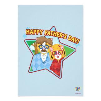 """¡El día de padre feliz! Invitación 5"""" X 7"""""""